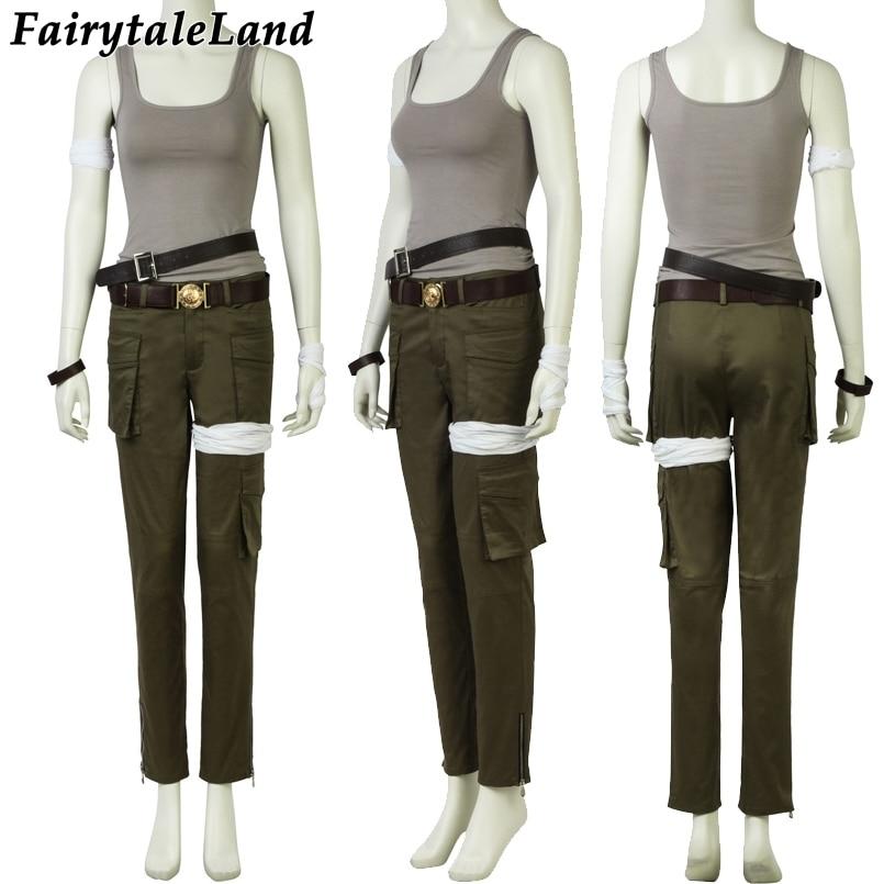 2018 Movie Tomb Raider Lara Croft Cosplay Costume Halloween