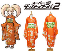 Anime Super DanganRonpa 2 Hiyoko Saionji Cosplay Costume Kimono Dress Girls Women Halloween Carnival Cosplay Costumes