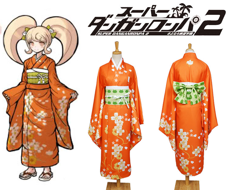 Super DanganRonpa 2 Hiyoko Saionji Kimono School Uniform Girls Dress Anime Halloween Game Cosplay Costumes For Women