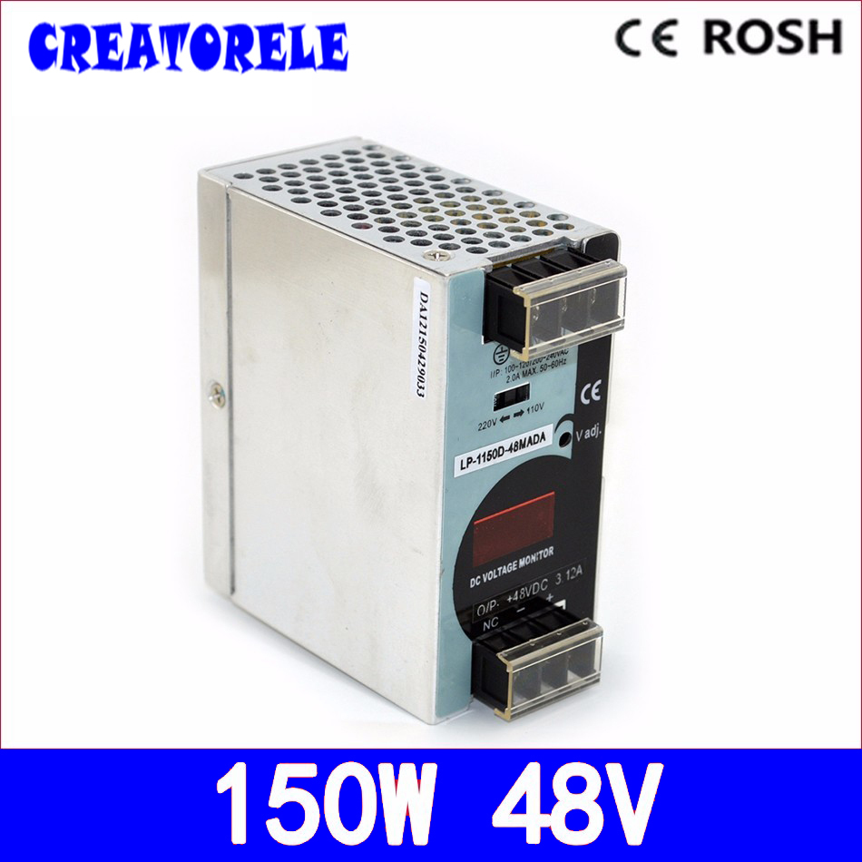 ФОТО ac to dc  din rail LP-150-48 150W 48v 3.2A -Strip light led driver source switching power supply volt