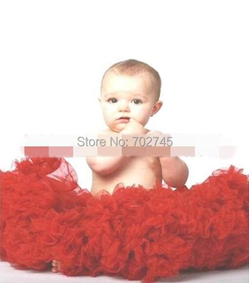 Девушка туту юбки марля красный юбка танца юбка 2-10Y 13051