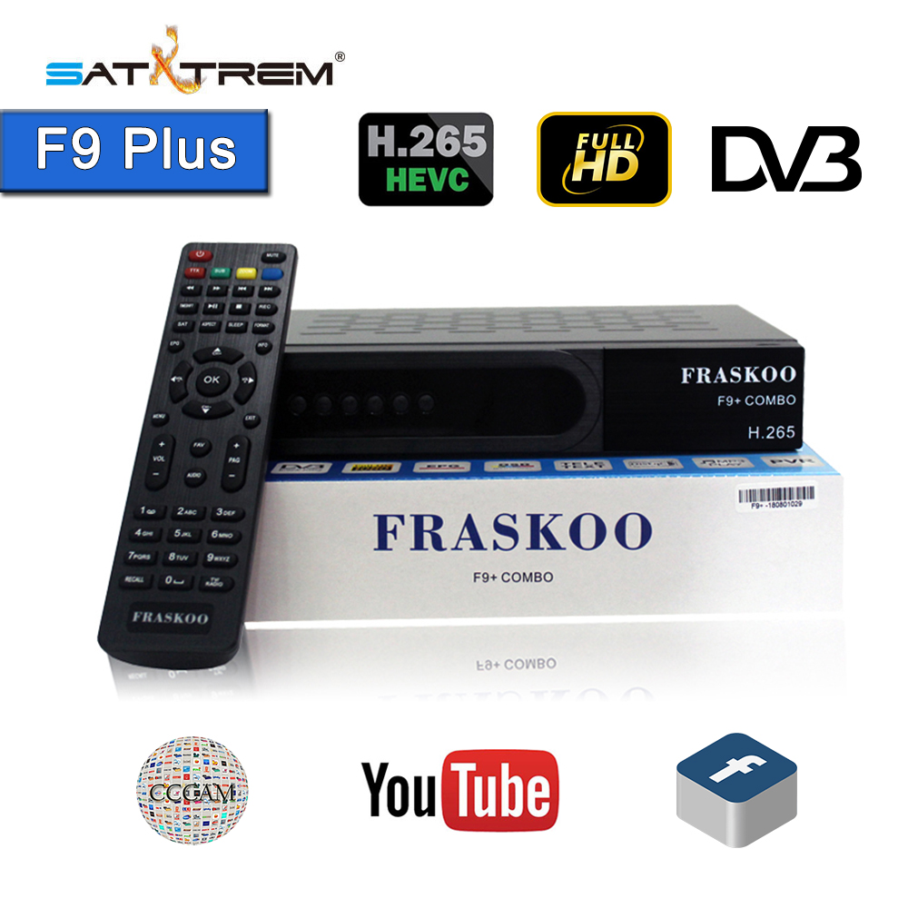 Satxtrem FRASKOO F9 Plus COMBO Satellite Receiver Digital DVB T2 DVB-S2 Full HD 1080p Support H.265 support CCcam with USB Wifi