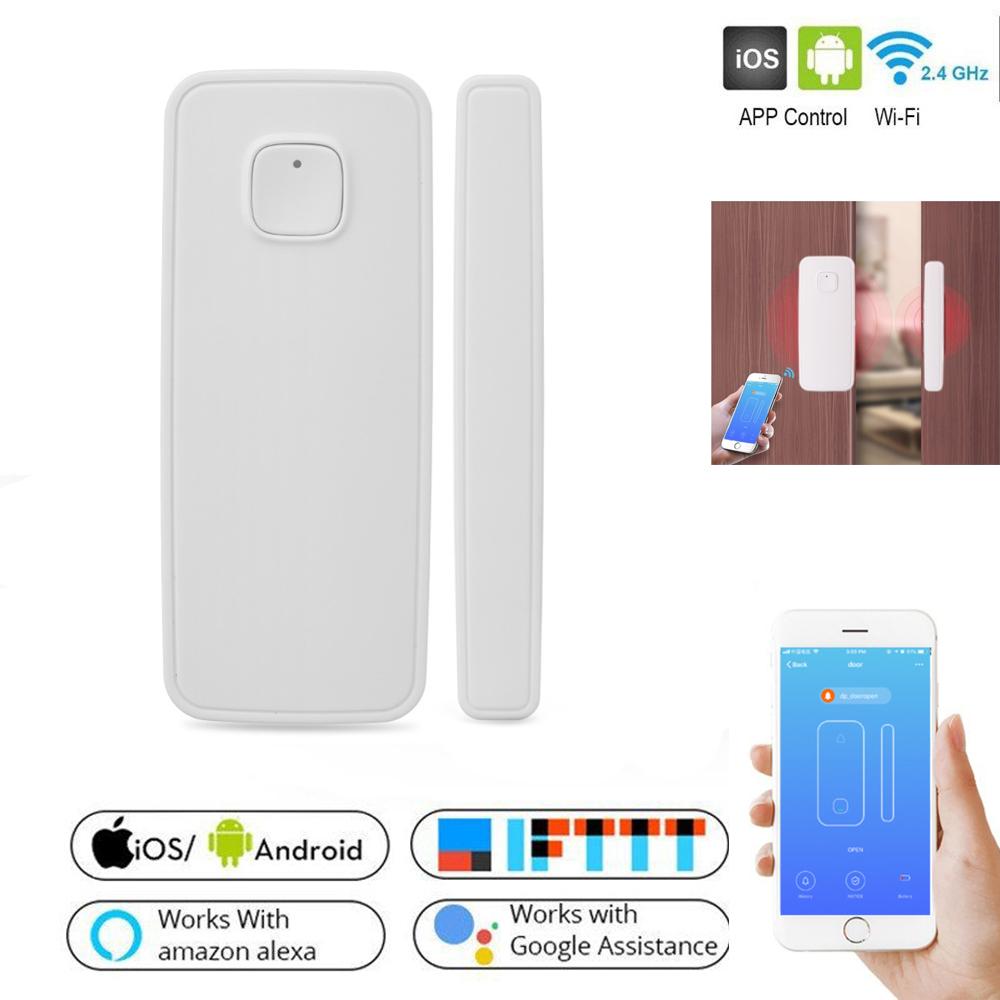 HTB1NfeCaPLuK1Rjy0Fhq6xpdFXam - Magnetic Sensor Wireless Door Window Alarm System For Home Security Wifi Door Open Switch Detector with Alexa Echo Google Home