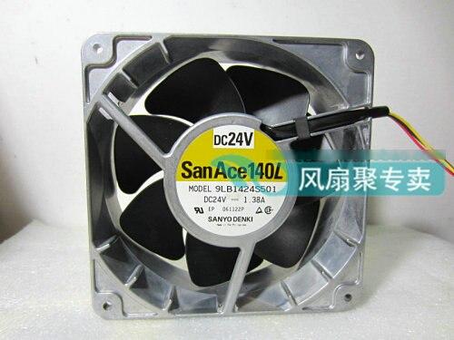 Оригинальный Sanyo 9LB1424S501 24V 1.38A 14 см 14051 3 линии алюминиевый вентилятор охлаждения