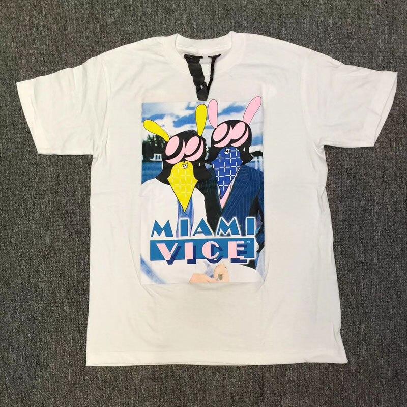 2018 Nouvelle Miami Vice T Shirts Hommes Femmes 1 1 Coton Hip Hop Vlone T d2d8dd6129d0