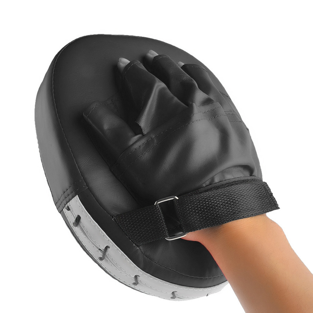 Black gloves at target - Red Black Boxing Gloves Pads Mitt Training Focus Target Pad Glove Mma Karate Combat Punch For