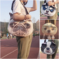 New Designed Female Retro Cartoon 3D Animal Printing Shoulder Bags dog Shape Women Handbag for Girls bolsa feminina sac a main