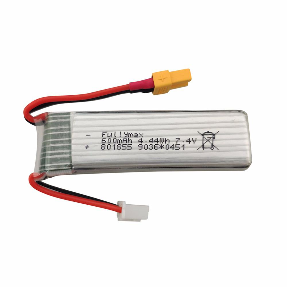 LeadingStar <font><b>7.4V</b></font> <font><b>600mAh</b></font> Lithium <font><b>Battery</b></font> for XK K130 6 Channels Brushless Aileron 3D Helicopter Accessories image