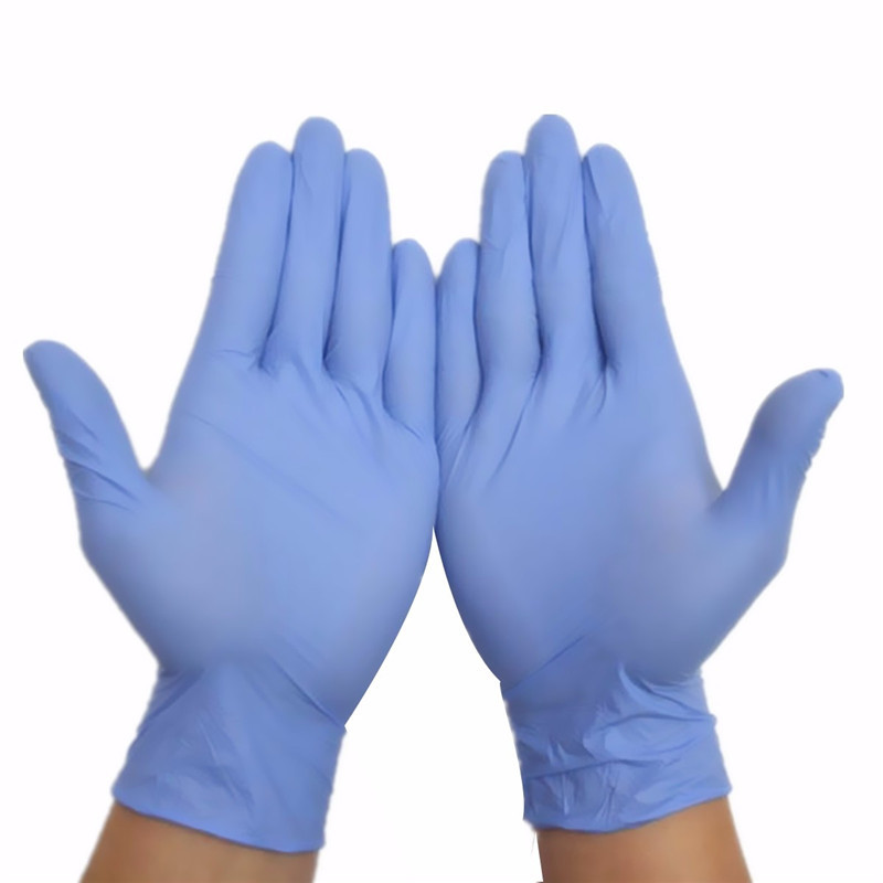 Free shipping 100pcs Extra Strong Medical Purple Powder Free Nitrile Disposable Gloves Click Butyronitrile Color S M L fwpp disposable nitrile gloves medical grade powder free latex free disposable non sterile food safe s m l black 50 pcs
