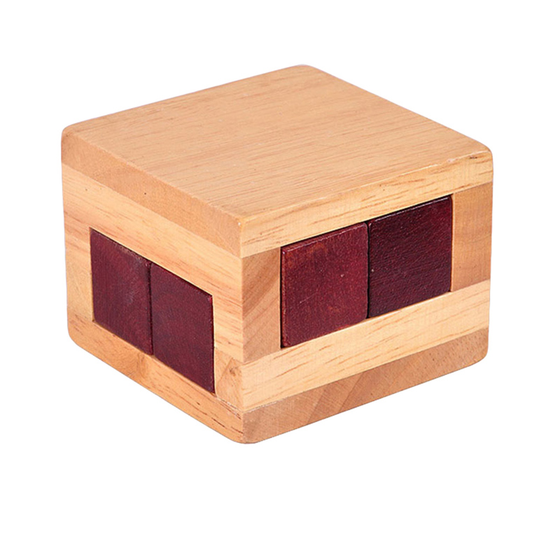 Luban Lock IQ Toys Wooden Magic Box Puzzle Game For Children Adult Educational Brain Training Toy Brain Teaser Game Toy