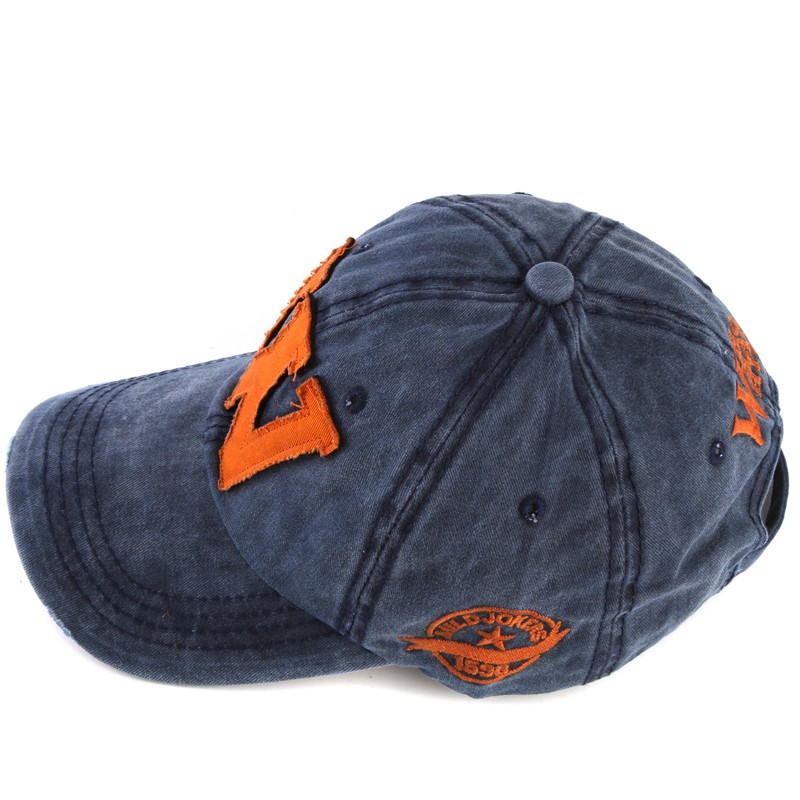 Topdudes.com - W Embroidery Letter Cotton Snapback Baseball Cap