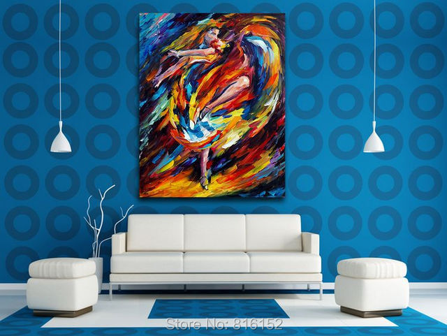 Flamenco Modern Abstract Paintings Acrylic On Canvas Print Office Cafe Wall  Decoration