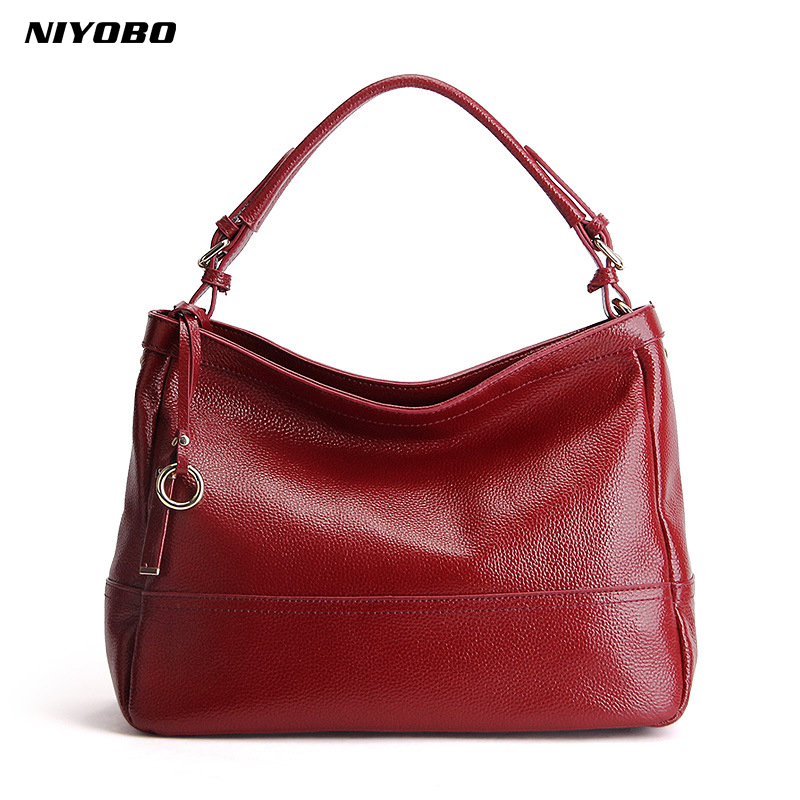 NIYOBO Brand Designer Real Leather Women Handbags Genuine Leather Bag for Woman Luxury female shoulder bags ladies messenger bag niyobo genuine leather women shoulder bag 100