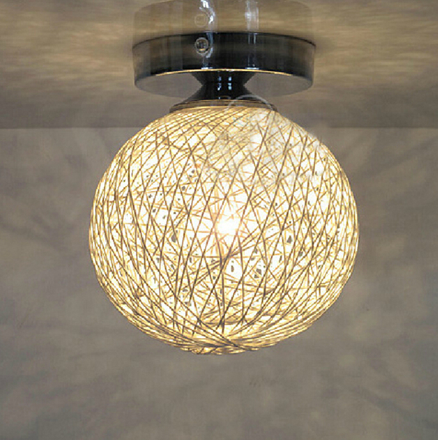 Modern pastoral ma ball aisle lights porch lamp rattan ball hall modern pastoral ma ball aisle lights porch lamp rattan ball hall corridor ceiling light fixtures aloadofball