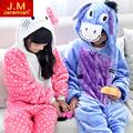 Sudadera con capucha de franela animal de la historieta pijamas pijama para niñas niños kids primavera pijama puntada ropa de dormir onesies nightwear