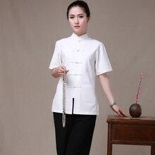 Новая летняя женская одежда для кунг-фу, женская униформа Wudang Tai Chi, костюм танга с коротким рукавом в традиционном китайском стиле, рубашка, 7 цветов