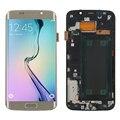 Золотой Для Samsung Galaxy S6 Edge SM-G925F ЖК-Дисплей С Сенсорным Экраном Дигитайзер Ассамблеи + Рамка шатона + Инструменты Часть Бесплатная Доставка