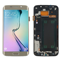 Golden For Samsung Galaxy S6 Edge SM-G925F LCD Display Touch Screen Digitizer Assembly+Bezel Frame+Tools Part Free Shipping