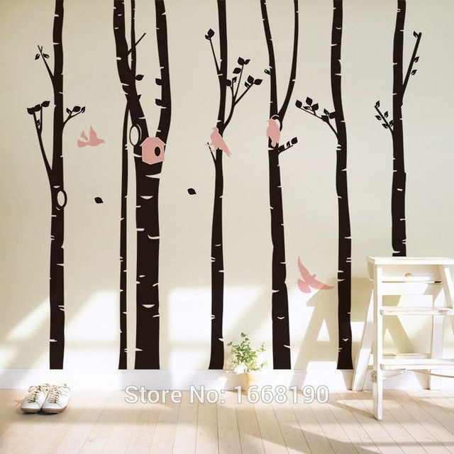 huge australia birds in forest art sticker wall decal for nursery home decor boys and girls - Home Decor Australia