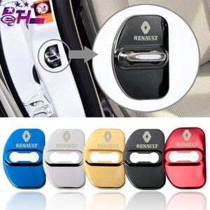 Image 1 - 4 pçs carro estilo do carro fechadura da porta caso capa para renault megane 2 megane 3 laguna 2 captur fluência latitude clio estilo do carro