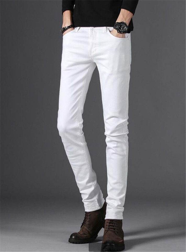 Winter Style Men S Casual High Quality Slim Fit Trousers Elastic