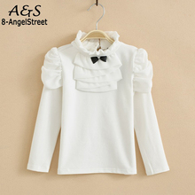 Фотография Girls Clothes Turtleneck Long Sleeve Basic Sweater Casual Kids Children Clothing Cotton Baby Girl Blouses Shirt
