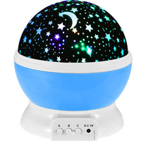 Romantic Rotate Night Light Lighting Sky Star Moon Master Projector Spin Children Baby Sleep USB Atmosphere