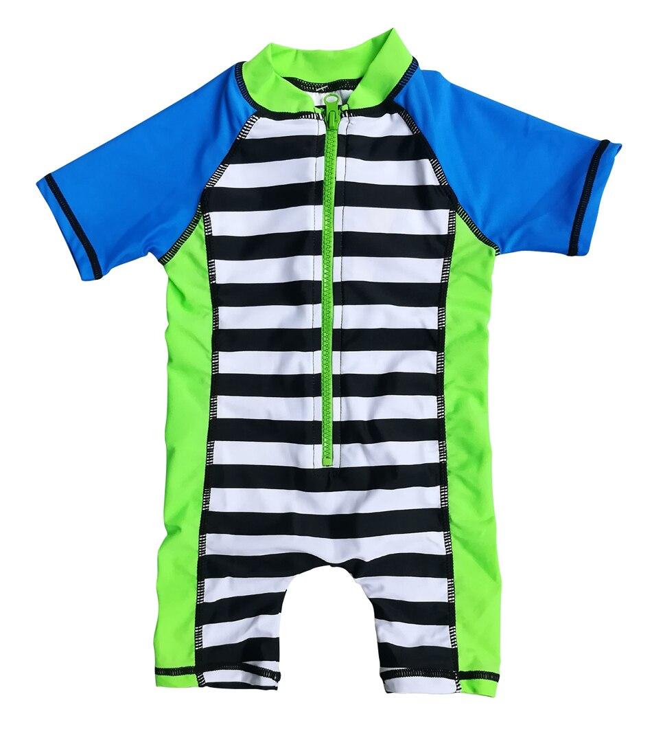 Bonverano(TM) Infant Boys' Sunsuit UPF 50+ Sun Protection S/S Zipper One Piece Swimsuit Rashguard upf50 rashguard bodyboard al004