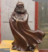 Bi001861 China Budismo Cobre Bronce India Damour DaMo Bodhidharma Dharma de Buda Estatua