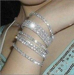 Free shipping 36pcs/lot Fashion Single Row Crystal Rhinestone  Stretched Strand Bracelet NO 5059