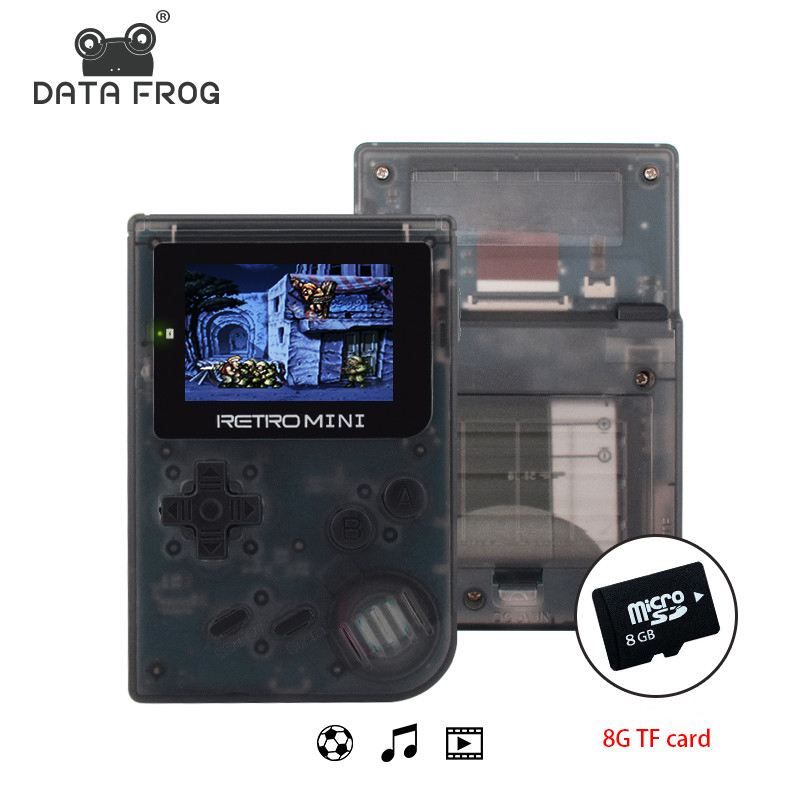Data Frog Video Game Mini Console Pocket Portable 2.0 Inch Handheld 32bit Classic Games Best Gift For Child And Nostalgic Player