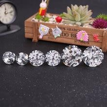цена на 5Pcs 25mm/30mm/40mm Crystal Diamond Glass Drawer Round Pull Handle Door Knob With Screw Wardrobe Cupboard Furniture Accessories