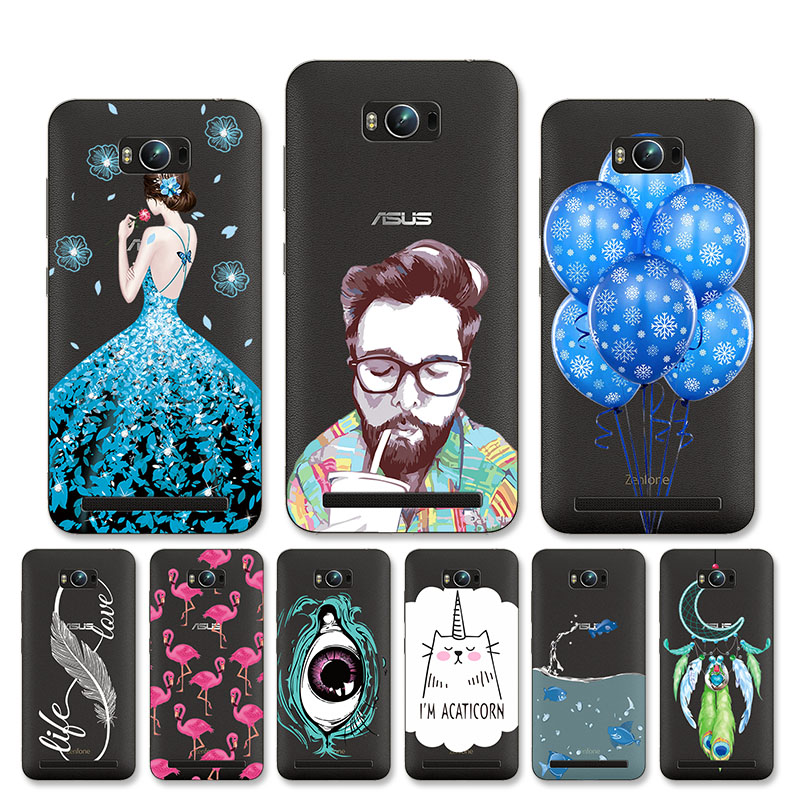 Clear Silicon Case For <font><b>Asus</b></font> <font><b>Zenfone</b></font> MAX Case DIY Patterned Cover For <font><b>ASUS</b></font>_<font><b>Z010DD</b></font> Z010D ZC550KL Cover Soft TPU Anti-knock Shell image
