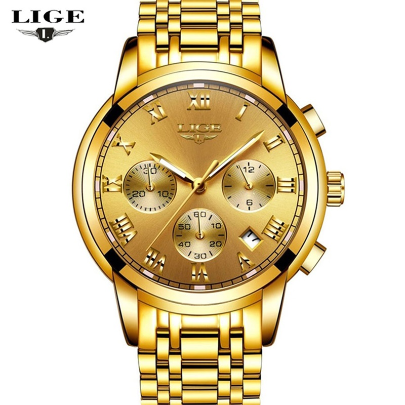 LIGE 2017 Men's Watches Top Brand Luxury Men Fashion Sports Watch Full Steel Waterproof Date Quartz Man Clock Relogio Masculino lige new men watches top brand luxury men s fashion sport quartz watch man multifunction date waterproof clock relogio masculino