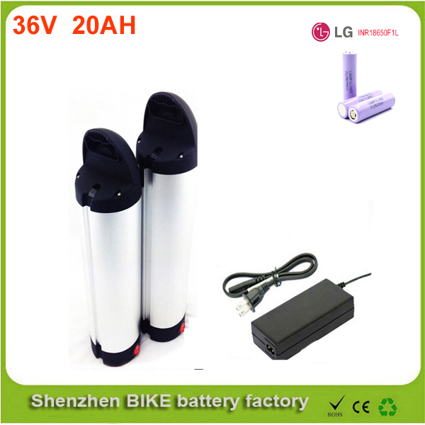 Great 36v 20ah electric bike li ion battery 36v 500w bottle lithium ion battery pack for ebike with charger  Use LG 18650 cell 48v 34ah triangle lithium battery 48v ebike battery 48v 1000w li ion battery pack for electric bicycle for lg 18650 cell