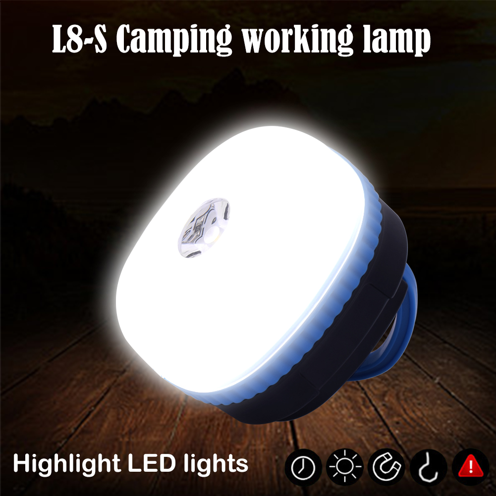 2018 High Bright Outdoor Magnetic Tent Light 150LM LED Camping Lamp 4-Modes+SOS Portable Mini USB LED Light 3W