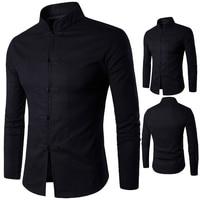 2017 Men S Shirt Chinese Traditional Style Kung Fu Long Sleeve Shirt Men S Don Collar
