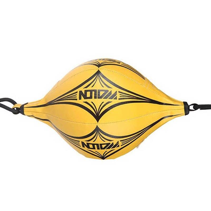 Новый двойной конец тренировочный мяч для ММА бокса, скорость, боевые искусства, пробивая мяч, боксерская пробивая сумка, боксео желтый