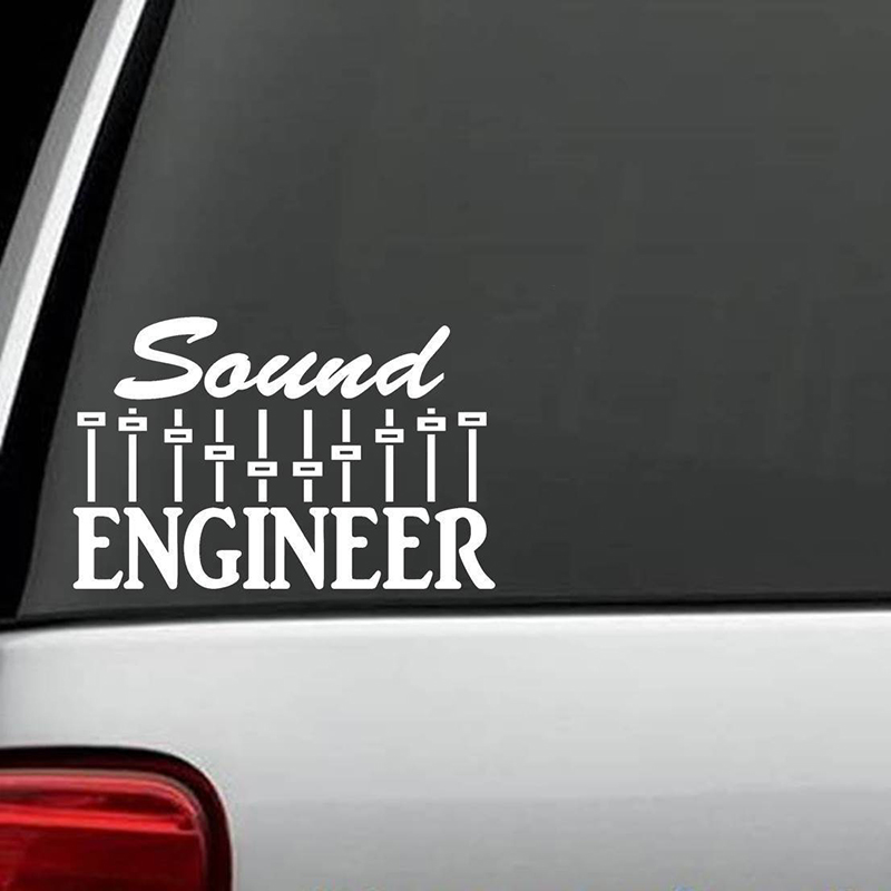 Sound Engineer Decal Sticker Music Mixer Sub Woofer Drums Guitar Bass Keyboard Handsome And Cool Stickers