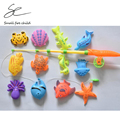 13pcs/lot Learning & education magnetic ocean fishing toy comes outdoor fun & sports fish toy gift for baby/kid with fishing rod