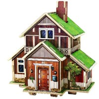 New Wooden 3D Puzzle Norway House Model Building Kits Wood Assembling Toy For Children Adults