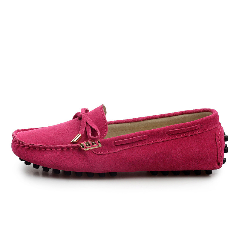 b9913b74cbc7 2015 genuine leather women designer loafers flat shoes suede driving shoes  for women moccasins soft sole breathable large size-in Loafers from Shoes  on ...