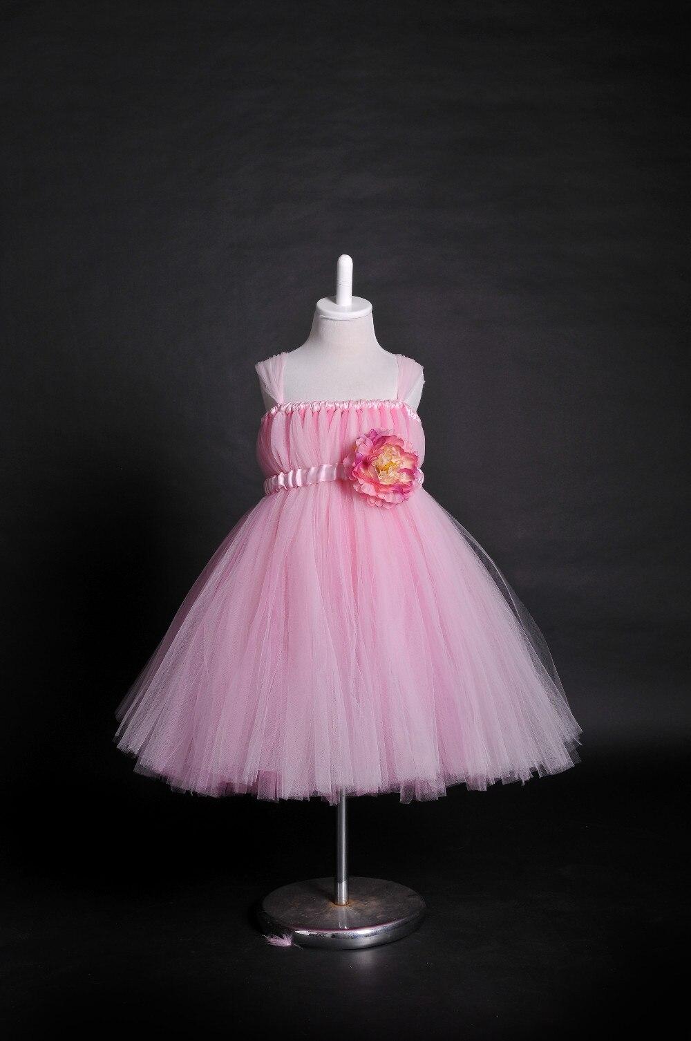 Muchacha de la princesa Brudesmaid vestidos rosa blanco Color marfil ...