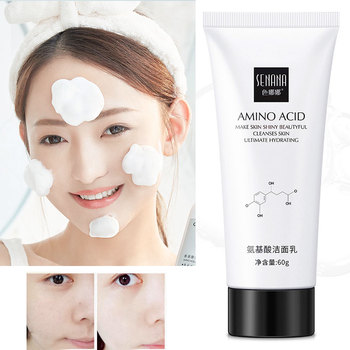 Amino Acid Facial Cleanser 60ml Whitening face cleanser Deep Fresh Hydrating  Moisturizing Foam Brightening face wash недорого
