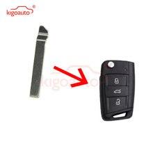 Kigoauto 5 шт Автомобильный ключ замена флип floding полотно