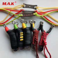 Powerful Stainless Steel Slingshot Length 121 mm with Rubber Bank for Outdoor Archery Shooting