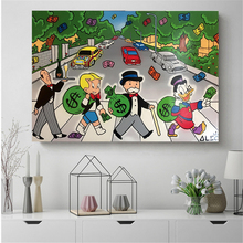 Alec Monopolies Abbey Road Canvas Posters Prints Wall Art Painting Decorative Picture Bedroom Modern Home Decoration Accessories