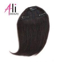 Али красивые, натуральные волосы челки Клип В Наращивание волос Искусственные волосы одинаковой направленности накладка с прической градиент челки накладные волосы 10 цветов можно окрашивать