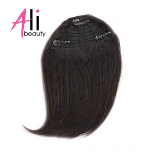 Hairpiece Human-Hair-Bangs Machine-Made Gradient-Bangs Clip-In ALI BEAUTY Can-Be-Dyed