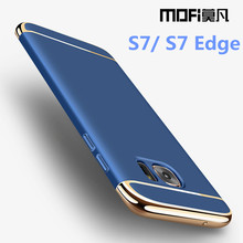 MOFi for Samsung S7 Edge case hard for Samsung S7 case protection Galaxy S7edge case cover 5.5 luxury gold blue for men women